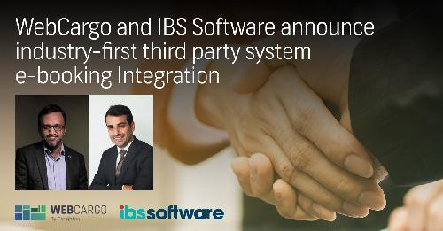 WebCargo and IBS Software Announce Industry-first Third Party System e-booking Integration